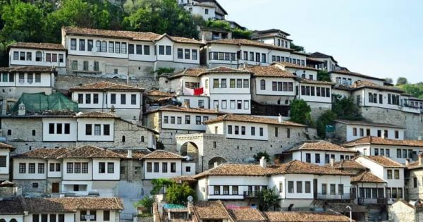 berat city houses windows