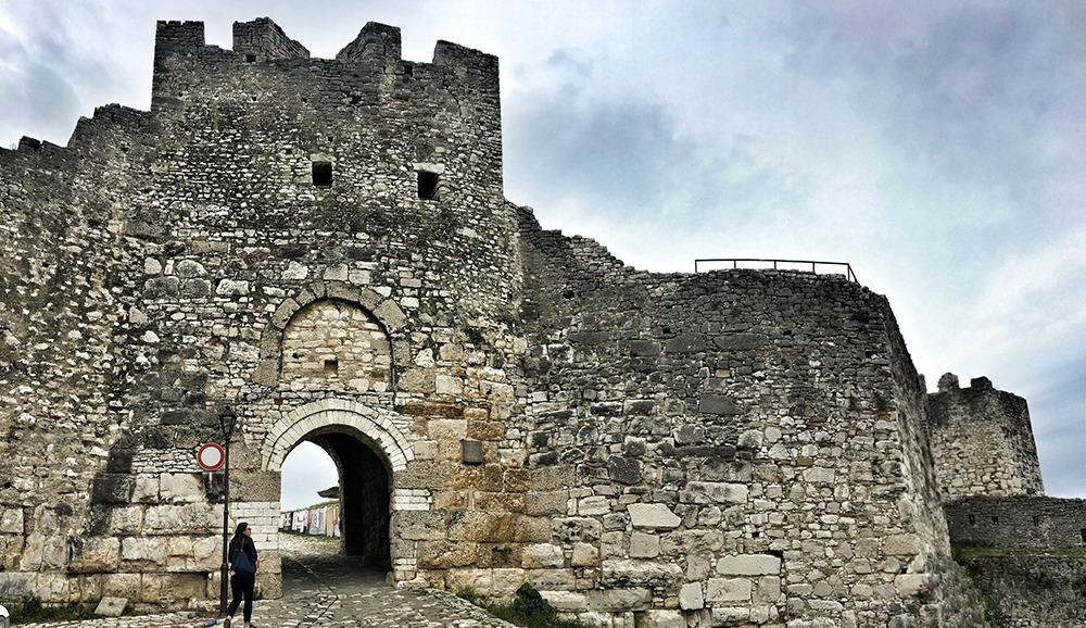 entrance to the kala in berat albania