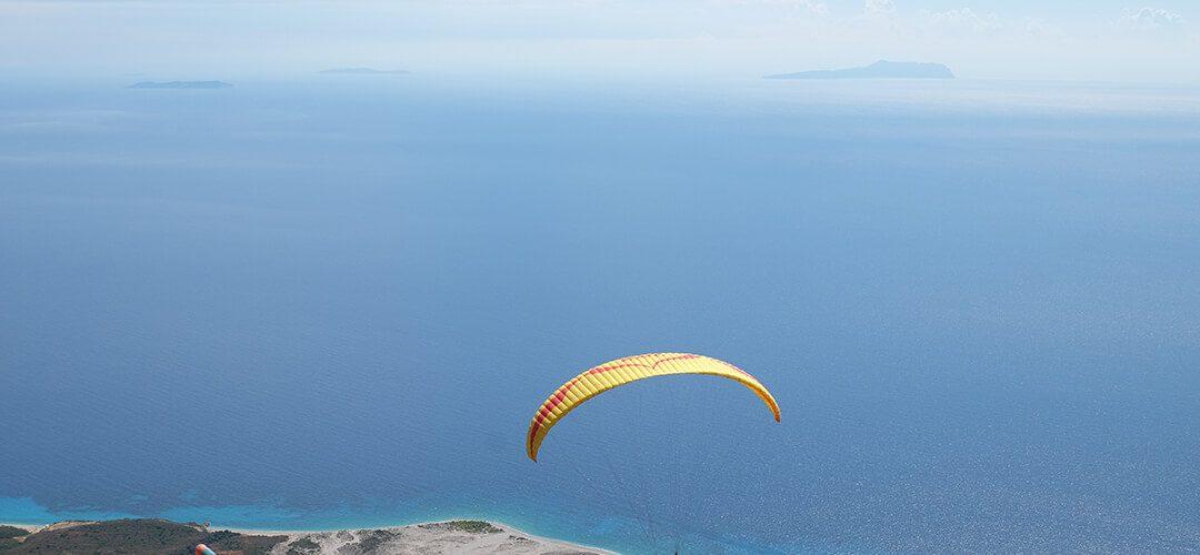 parachute llogara national park sea view