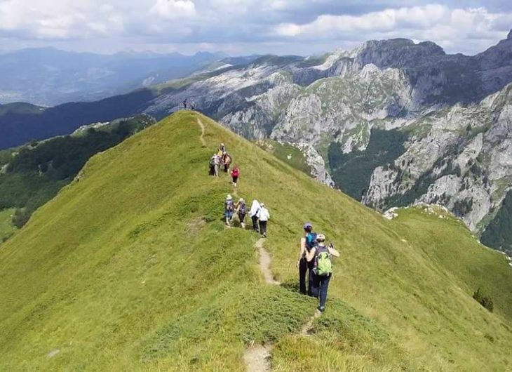 vuthaj hiking trek the albanian alps