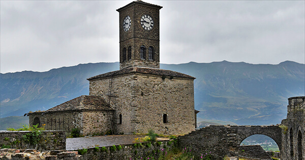 gjirokaster castle clock tower