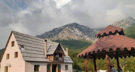 albanian alps guesthouse garden