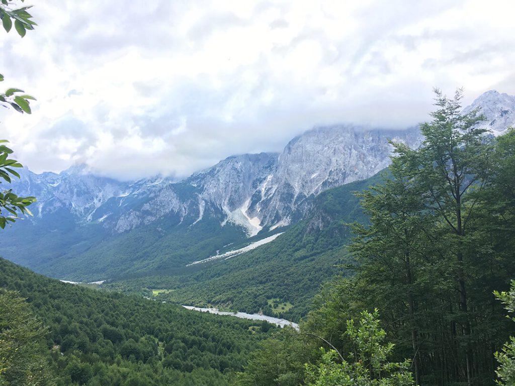 albanian alps mountanious terrain