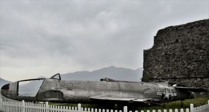 american airplane gjirokaster castle