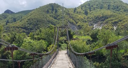 bicycle wooden bridge cycling tour albania