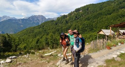 hiking trekking albanian alps