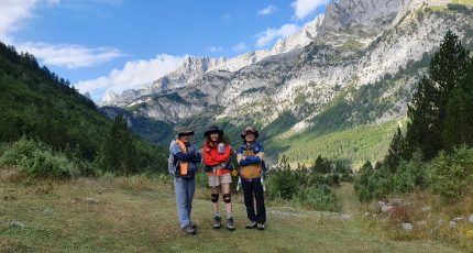 korean travelers albanian alps