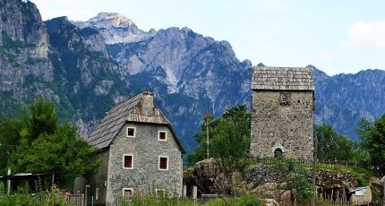 theth towers guesthouses albanian alps